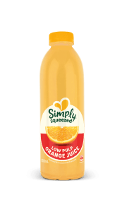 low pulp orange juice